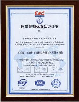 Certification Name: Quality Management System Certificate